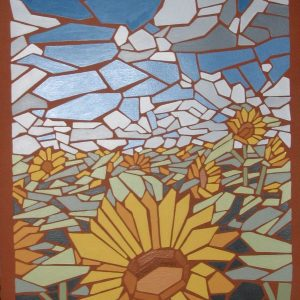sunflower field mosaic